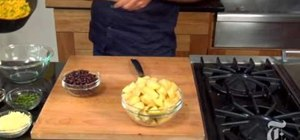 Make Southwest potatoes with black beans and corn
