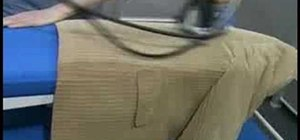 Iron a blazer on a PRIMULA Flex 1242 ironing table