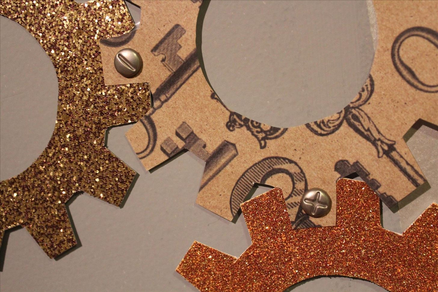 Steampunk Your Halloween Decorations with These DIY Interlocking Paper Gears