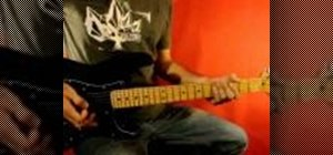 """Play the guitar solo from 3 Doors Down's """"Kryptonite"""""""