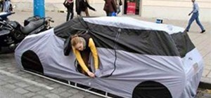 The Car Tent for a Curbside Campsite