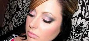 Apply makeup for a pink and black smoky eye