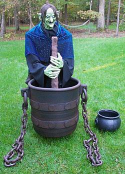 Make a Robot Witch Stirring a Hanging Cauldron