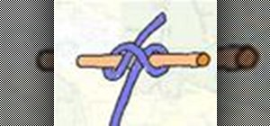 Tie the general Clove Hitch knot