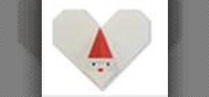Origami a Santa heart Japanese style