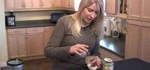 Make a raw probiotic kefir drink with strawberries
