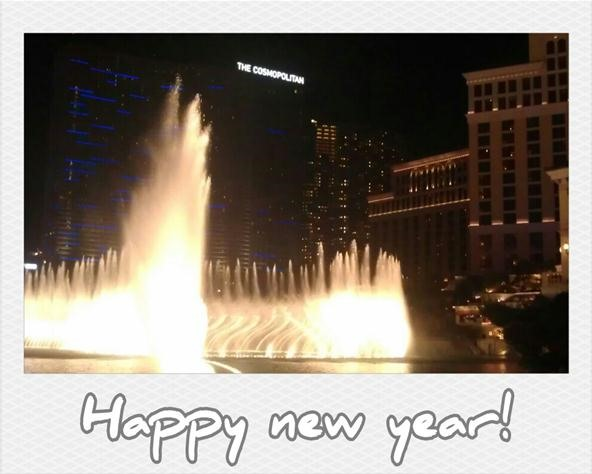 new years challenge: bellagio fountain