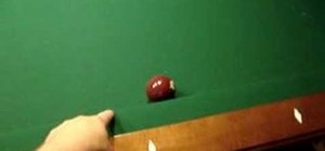 Do a one rail 8 ball trick pool shot