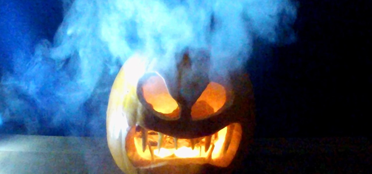 Make a Smoking Pumpkin for Halloween