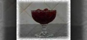 Make deliciously sweet dry cherry & cranberry compote
