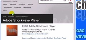 Download the Adobe Shockwave plug-in for Firefox