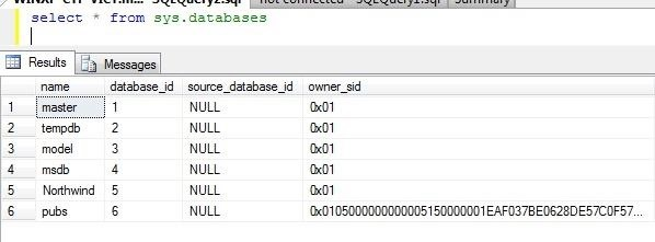 Ms-Sql-Hasdbaccess Doesnt Return DB Names