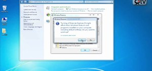 Remove or install Internet Explorer in Windows 7