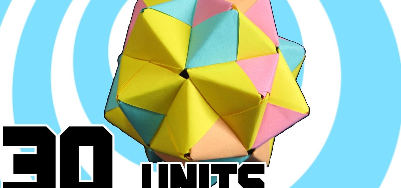 Make Modular Origami Icosahedron from 30 Sonobe Units