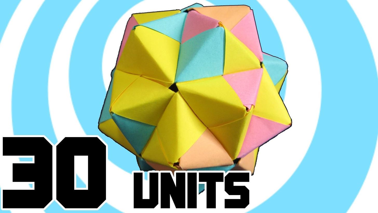 Learn How To Make Modular Origami Icosahedron From 30 Sonobe Units