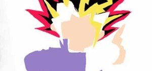 Draw Yugi Moto From Yu-Gi-Oh on your computer