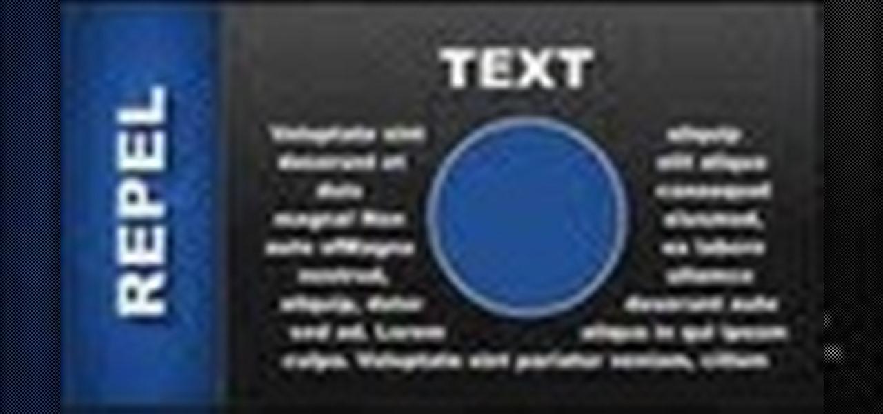 Repel Text in Xara Web Designer