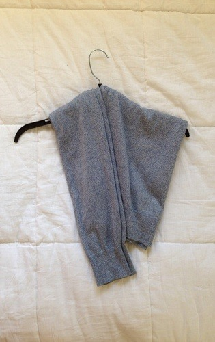 Never Get Another Hanger Bump Again with This Sweater Hanging Secret Tip