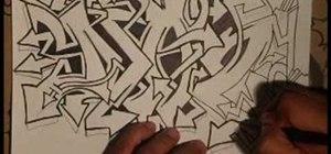 Drawan elaborate graffiti tag with Wizard