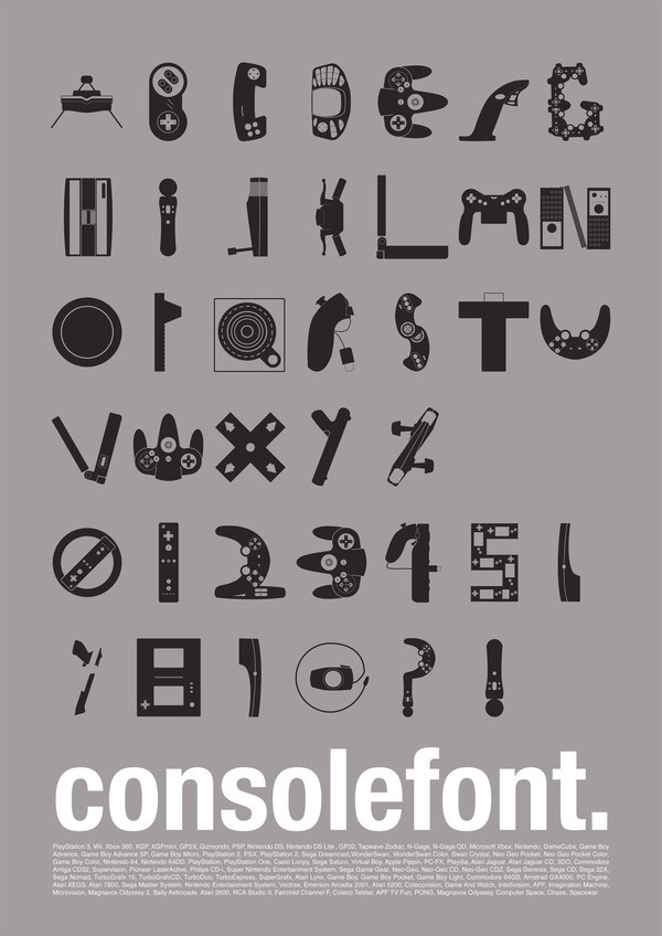 Video game alphabet