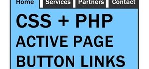 Create active-page button links with CSS and PHP