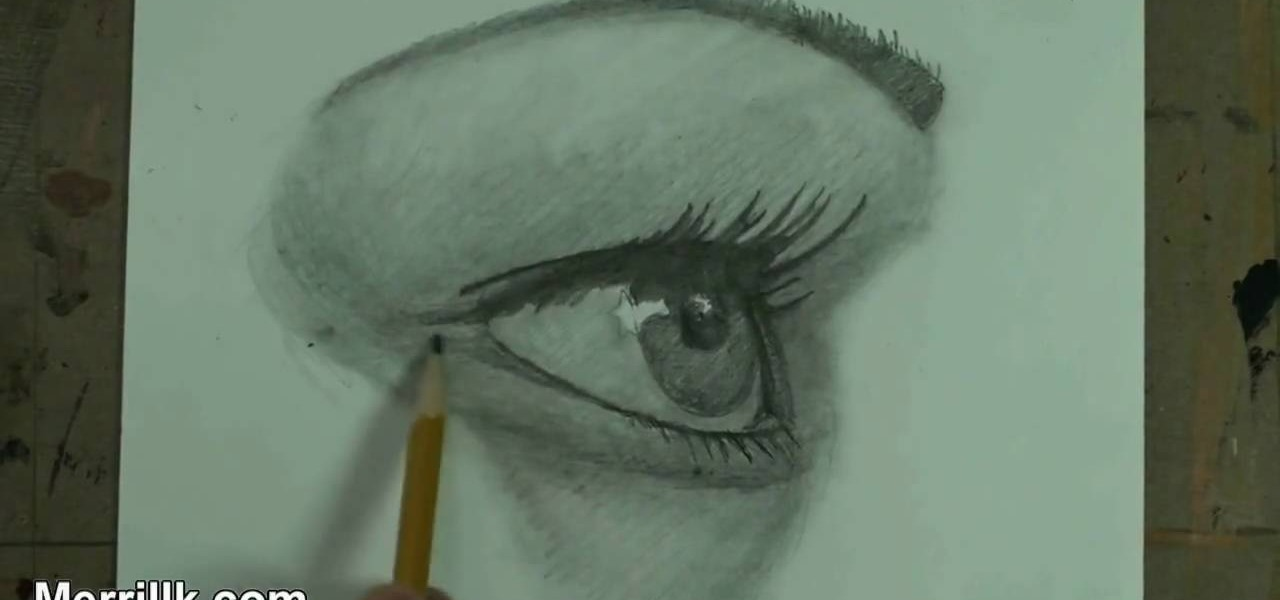 how to draw the female eye from a side profile drawing