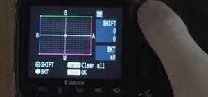 Understand the Canon 40D menu