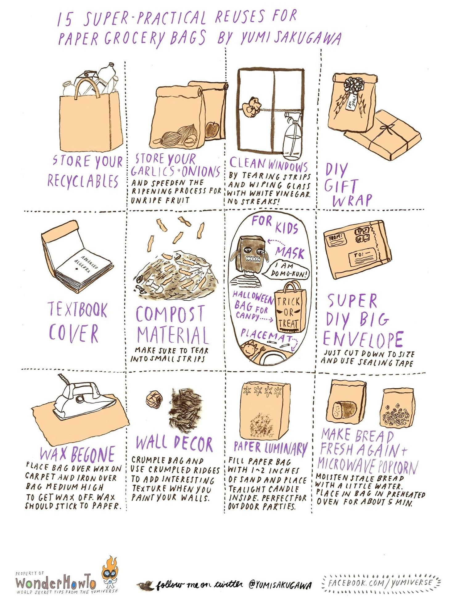 15 Super-Practical Reuses for Paper Grocery Bags
