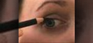 Apply pencil eyeliner effectively, with no mess
