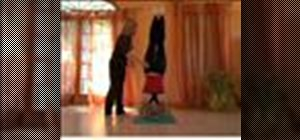 Safely perform a yoga-style headstand