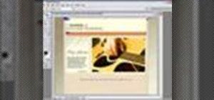 Create a web page using Photoshop