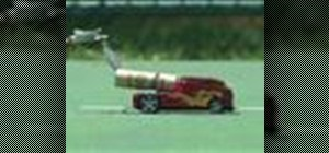 Make a rocket powered matchbox car