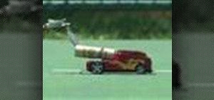 Make a rocket powered matchbox car
