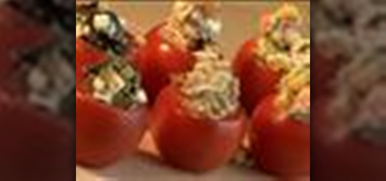 How to make stuffed tomato canapes vegetable recipes for How to make canape