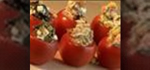 Make stuffed tomato canapes