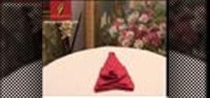 Folda napkin into a cob (Pliage en epi)
