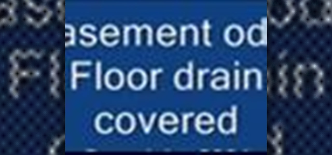 how to fix odor from a basement floor drain housekeeping