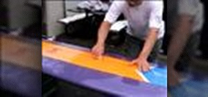 Wax a new or unwaxed surf board