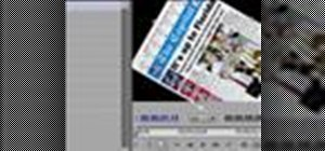 Create a spinning newspaper in Premiere Pro CS3