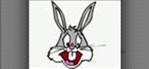 Draw Bugs Bunny cartoon