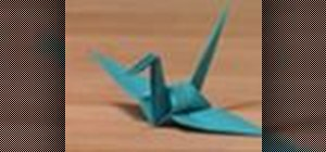 Origami cranes for good luck