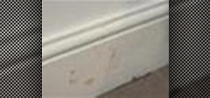 Clean skirting boards