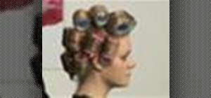 Curl your hair with rollers