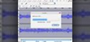 Level the  audio on a digital camera using Audacity
