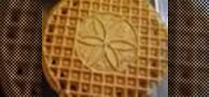 Make pizzelle waffle cookies