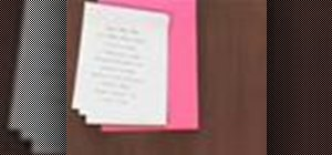 Make wedding invitations with decorative brads