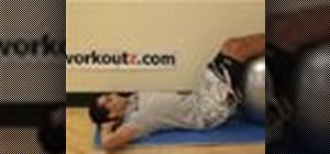 Do a supine stability ball crunch exercise