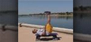 Do a vertical leg crunch ab exercise