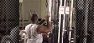 Do one arm lat pulldowns to work the back