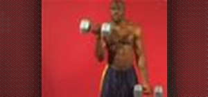Exercise w/ alternating dumbbell bicep curl underhand